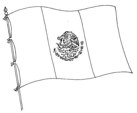 bandera-de-mexicopara-colorear