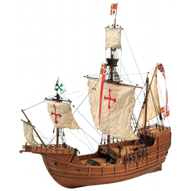 maqueta-de-barco-en-madera-carabela-santa-maria