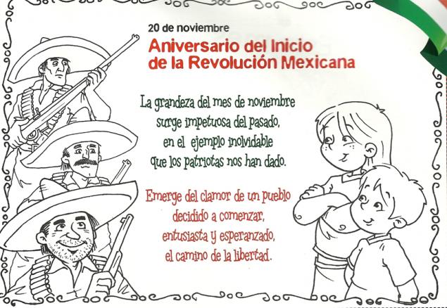 Dibujos Para Colorear 20 De Noviembre Revolucion Mexicana
