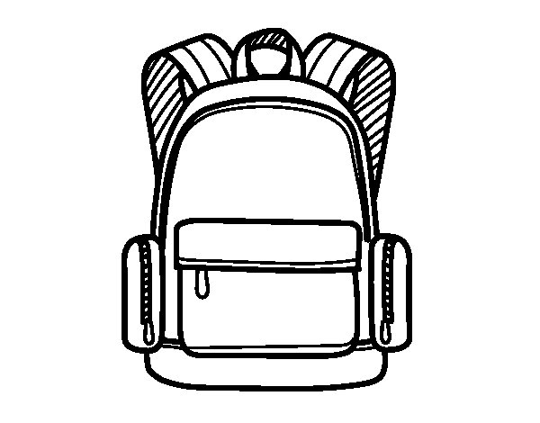 una-mochila-escolar-colorear