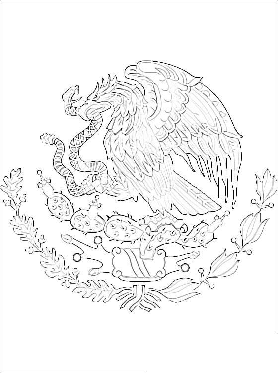 Escudo nacional mexicano para imprimir y colorear 02