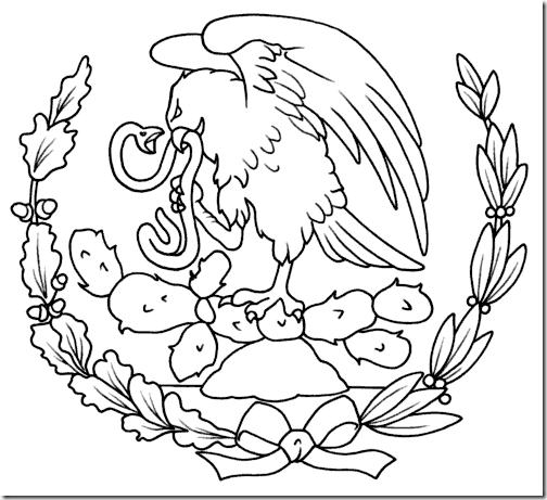 Escudo nacional mexicano para imprimir y colorear 04