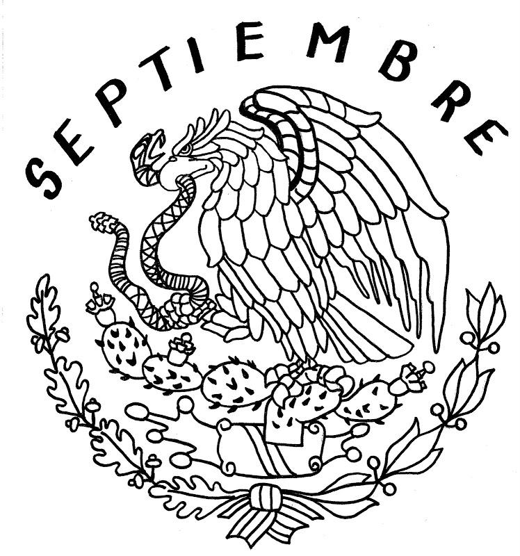 Escudo nacional mexicano para imprimir y colorear 05