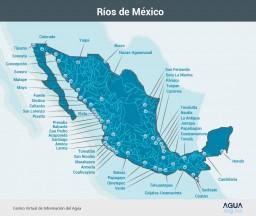 Mapa de los rios de México