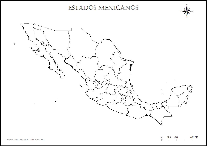 mapa-mexicocolorear