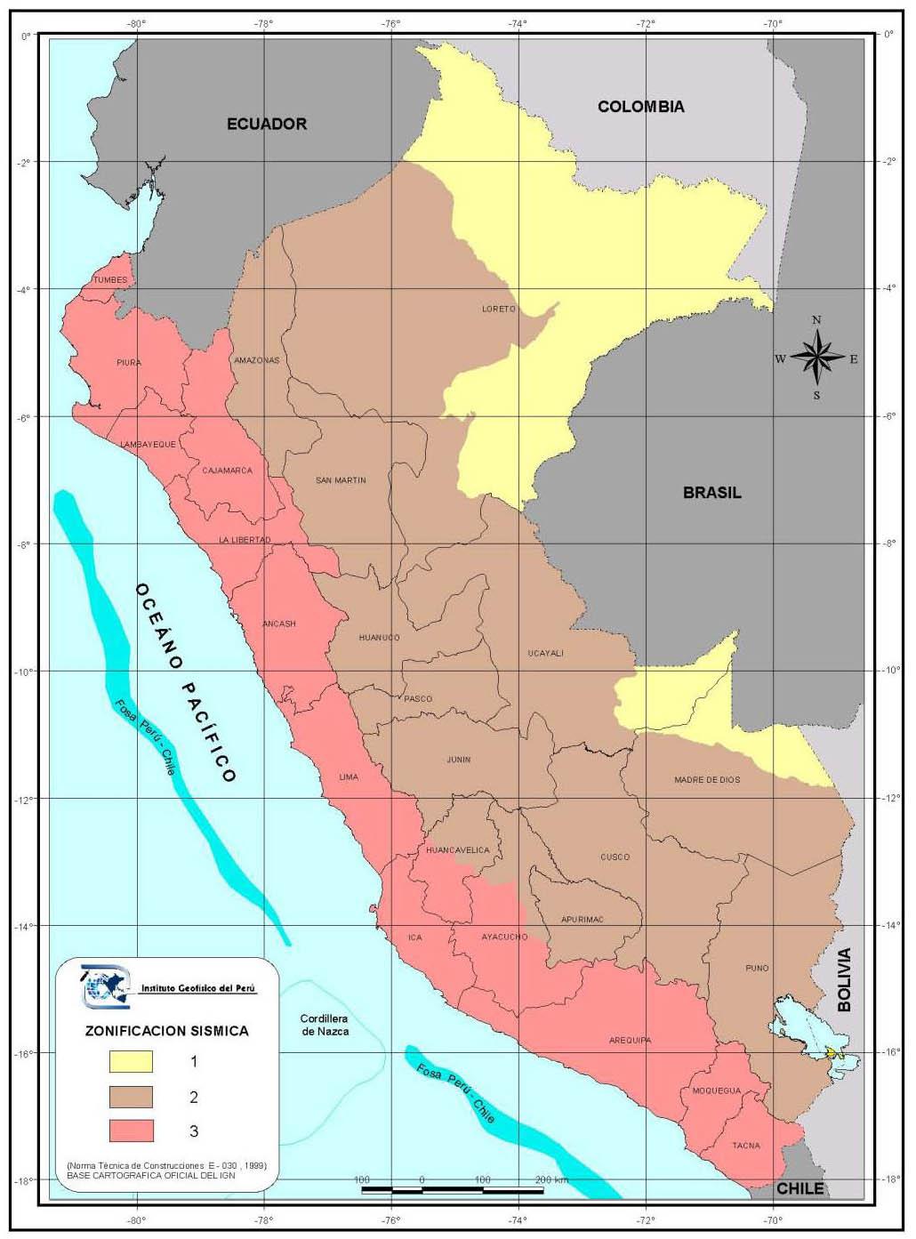 Mapa sismico del Peru1