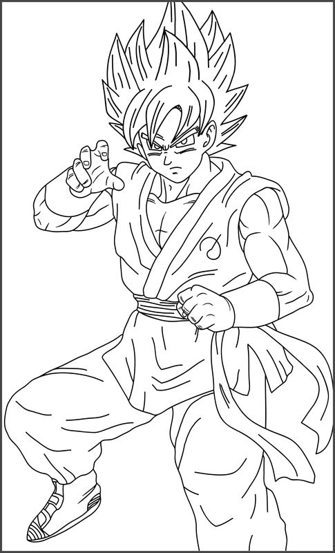 Imagenes De Goku Fase Dios Para Dibujar