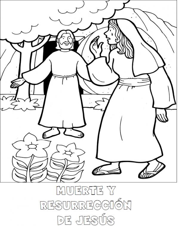Imagenes de jesus resucitado para colorear