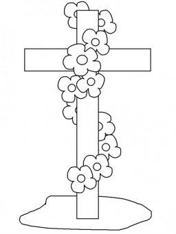 Dia de la santa cruz para colorear