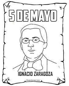 Batalla de Puebla para colorear