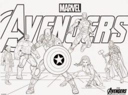 Avengers para colorear