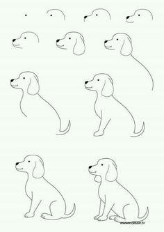 Dibujar perro paso a paso