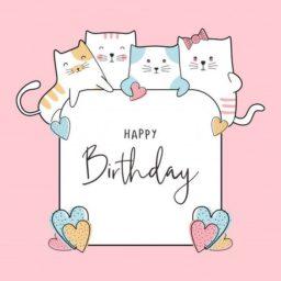 Felicitación de cumpleaños con gatitos