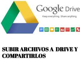 Como subir archivos a Drive y compartirlo