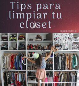 Tips para limpiar tu closet