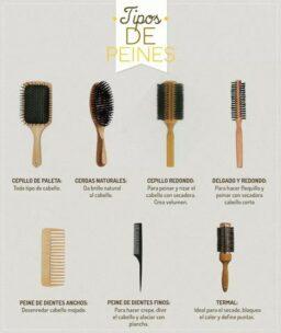 Peines y cepillos, uso correcto