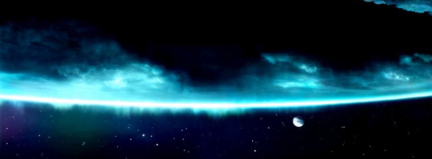 Aurora Borealis Dust Facebook Cover