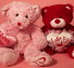 Happy Valentines Teddy Bears Facebook Cover