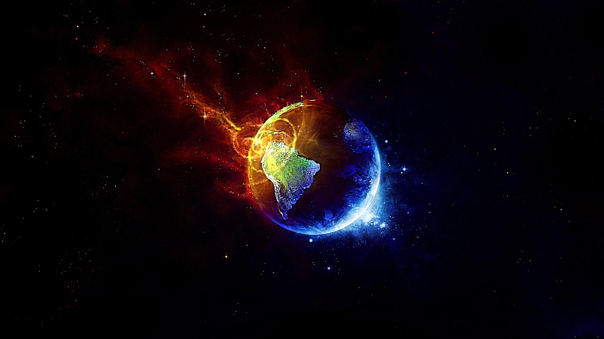 universe music wallpapers: Fondo La Tierra En Colores En Fondos De Pantalla