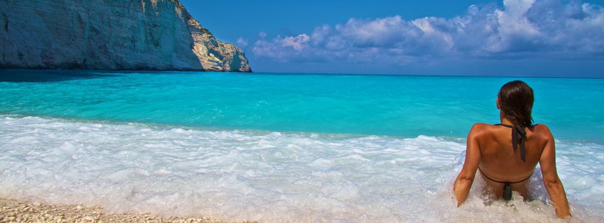 Zakynthos Beach Facebook Cover